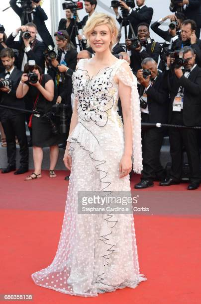 Actress Greta Gerwig attends 'The Meyerowitz Stories' premiere during the 70th annual Cannes Film Festival at Palais des Festivals on May 21 2017 in...