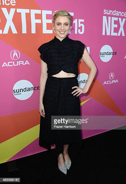 Actress Greta Gerwig attends the Mistress America Los Angeles premiere during the Sundance NEXT FEST at The Theatre at Ace Hotel on August 7 2015 in...