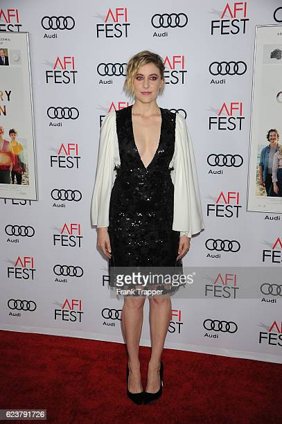 Actress Greta Gerwig attends the screening of A24's '20 Century Women' at AFI Fest 2016 presented by Audi at The Chinese Theatre on November 16 2016...