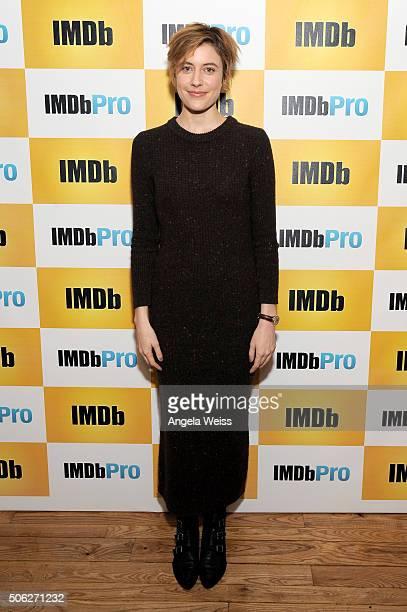 Actress Greta Gerwig in The IMDb Studio In Park City Utah Day One Park City on January 22 2016 in Park City Utah
