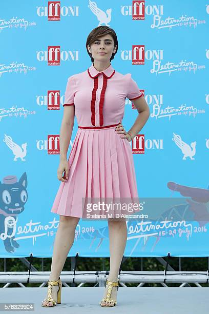 Actress Greta Scarano attends the Giffoni Film Festival Day 7 photocall on July 21 2016 in Giffoni Valle Piana Italy