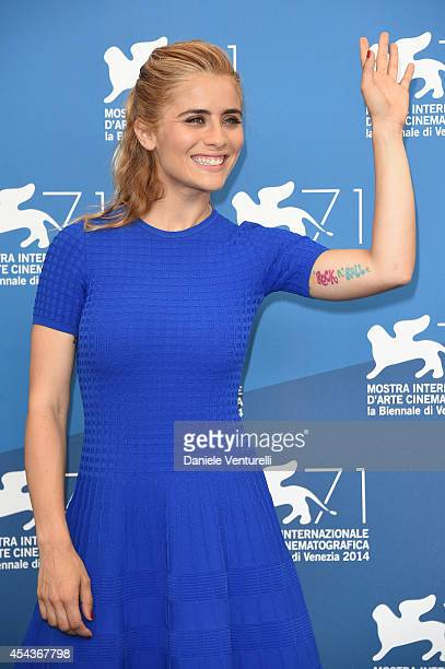 Actress Greta Scarano attends the 'Senza Nessuna Pieta' photocall during the 71st Venice Film Festival on August 30 2014 in Venice Italy