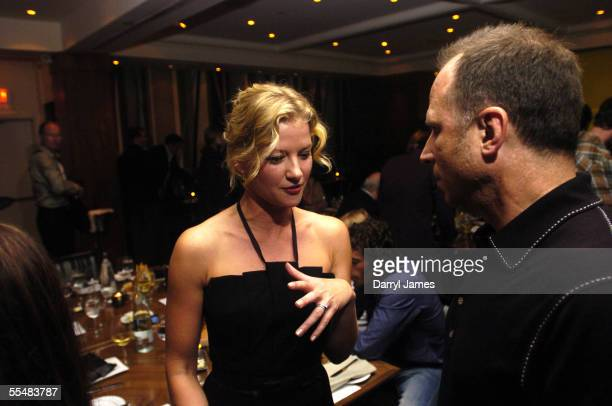 "Actress Gretchen Mol and Bob Berney attend the dinner party for ""The Notorious Bettie Page"" during the 30th Annual Toronto International Film..."