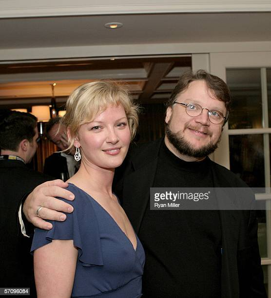 """Actress Gretchen Mol and Director Guillermo del Toro attend the Picturehouse cocktail reception for the film """"The Notorious Bettie Page"""" during..."""