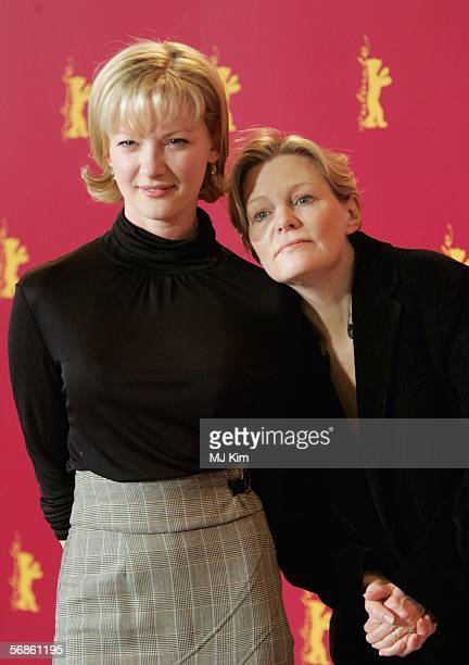 Actress Gretchen Mol and director Mary Harron attend the photocall of The Notorious Bettie Page during the 56th Berlin International Film Festival on...