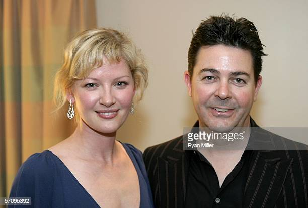 """Actress Gretchen Mol and EVP of Marketing Picturhouse Dennis O'Connor attend the Picturehouse cocktail reception for the film """"The Notorious Bettie..."""