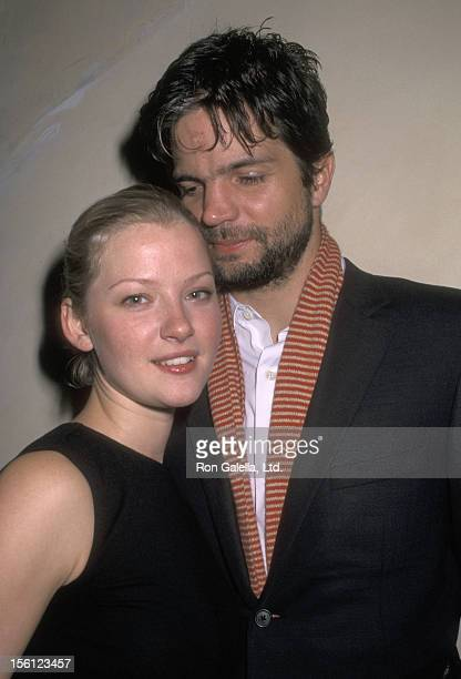 Actress Gretchen Mol and husband Director Tod Williams attend the Opening Night Play Performance of 'The Shape of Things' on October 10 2001 at...