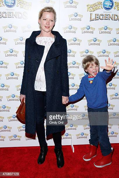 Actress Gretchen Mol and Ptolemy John Williams attend Ringling Bros and Barnum Bailey presents 'Legends' at Barclays Center of Brooklyn on February...