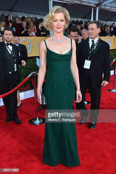 Actress Gretchen Mol arrives at the 19th Annual Screen Actors Guild Awards held at The Shrine Auditorium on January 27, 2013 in Los Angeles,...