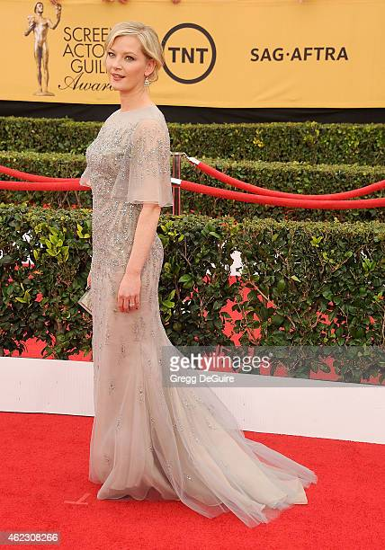 Actress Gretchen Mol arrives at the 21st Annual Screen Actors Guild Awards at The Shrine Auditorium on January 25 2015 in Los Angeles California