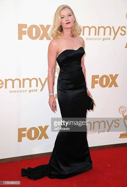 Actress Gretchen Mol arrives at the 63rd Primetime Emmy Awards at Nokia Theatre LA Live on September 18 2011 in Los Angeles California