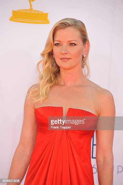 Actress Gretchen Mol arrives at the 64th Annual Primetime Emmy Awards held at the Nokia Theater LA Live