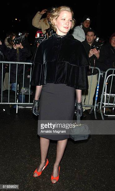Actress Gretchen Mol arrives at the National Board of Review Annual Gala at Tavern On The Green January 11 2005 in New York City