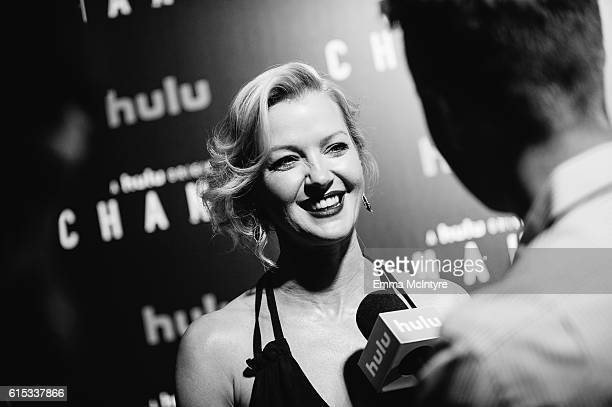 Actress Gretchen Mol arrives at the premiere of Hulu's 'Chance' at Harmony Gold Theatre on October 17 2016 in Los Angeles California