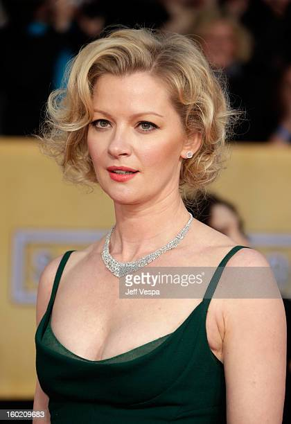 Actress Gretchen Mol arrives at the19th Annual Screen Actors Guild Awards held at The Shrine Auditorium on January 27, 2013 in Los Angeles,...