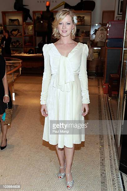 Actress Gretchen Mol attends the Barneys New York celebration of Fashion's Night Out at Barneys New York on September 10 2010 in New York City