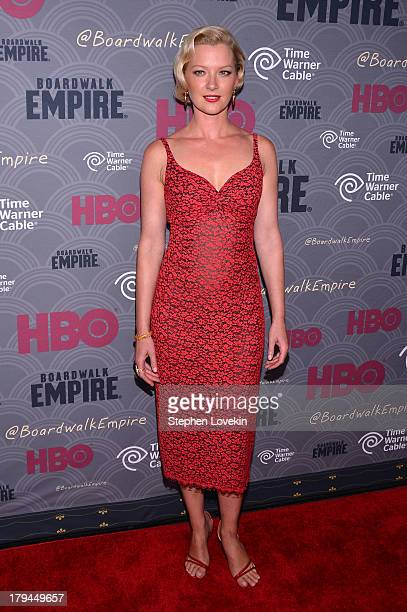 Actress Gretchen Mol attends the Boardwalk Empire season four New York premiere at Ziegfeld Theater on September 3 2013 in New York City