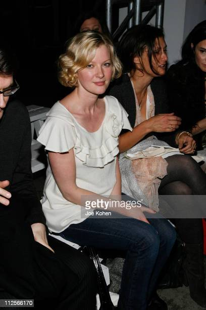 Actress Gretchen Mol attends the Fall 2008 Koi Suwannagate show held at Bumble Bumble during MercedesBenz Fashion Week on February 5 2008 in New York...