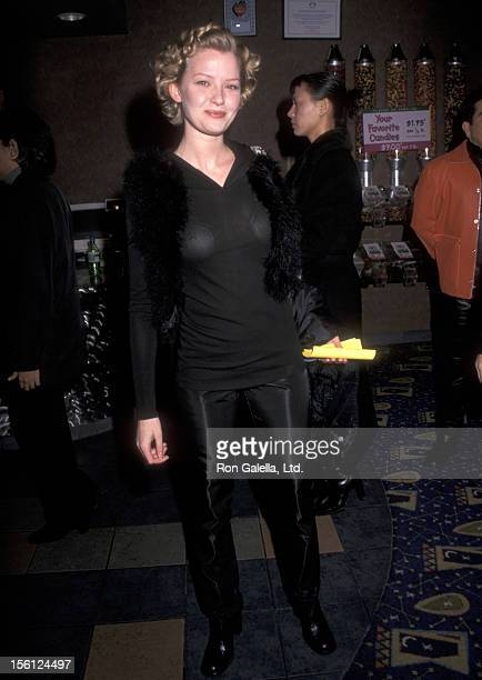 Actress Gretchen Mol attends the 'Live Flesh' New York City Premiere on January 13 1998 at the Cineplex Odeon Chelsea Cinemas in New York City New...