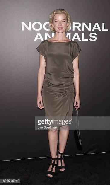Actress Gretchen Mol attends the 'Nocturnal Animals' New York premiere at The Paris Theatre on November 17 2016 in New York City
