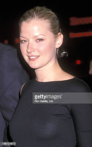 Actress Gretchen Mol attends the Opening Night Play Performance of 'The Shape of Things' on October 10 2001 at Promenade Theatre in New York City New...