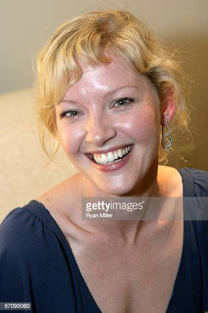 """Actress Gretchen Mol attends the Picturehouse cocktail reception for the film """"The Notorious Bettie Page"""" during ShoWest 2006 held at the Bellagio..."""