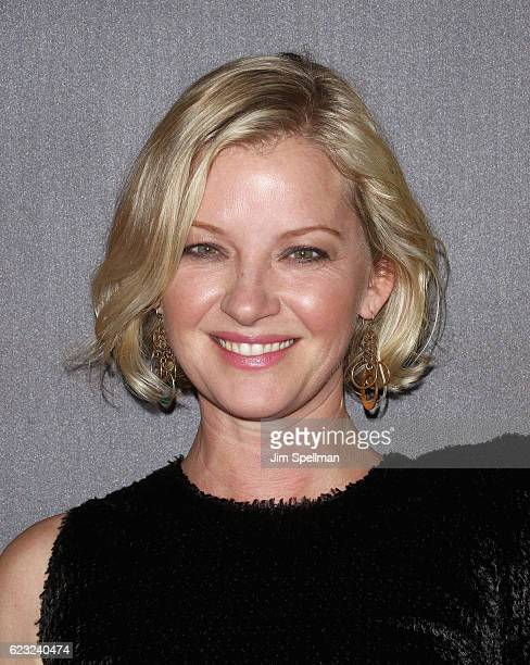 Actress Gretchen Mol attends the premiere of 'Bleed For This' hosted by Open Road with Men's Fitness at AMC Lincoln Square Theater on November 14...