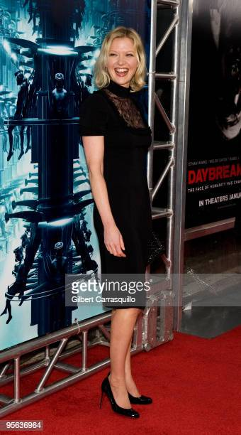 Actress Gretchen Mol attends the premiere of 'Daybreakers' at the SVA Theater on January 7 2010 in New York City