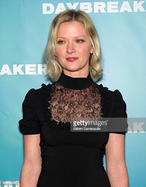 Actress Gretchen Mol attends the premiere of Daybreakers at the SVA Theater on January 7 2010 in New York City
