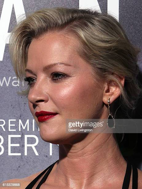 Actress Gretchen Mol attends the premiere of Hulu's 'Chance' at Harmony Gold Theatre on October 17 2016 in Los Angeles California