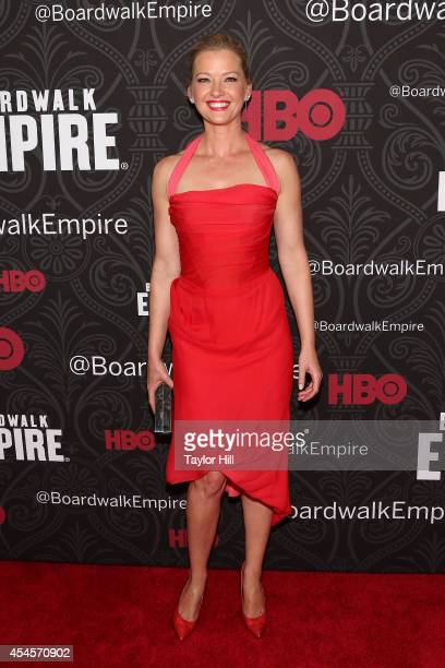 Actress Gretchen Mol attends the premiere of the final season of Boardwalk Empire at Ziegfeld Theatre on September 3 2014 in New York City