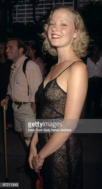 Actress Gretchen Mol is on hand at premiere of the HBO movie 'Subway Stories' in Bryant Park