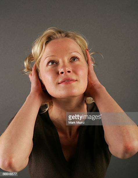 Actress Gretchen Mol of the film 'Puccini For Beginners' poses for a portrait at the Getty Images Portrait Studio during the 2006 Sundance Film...