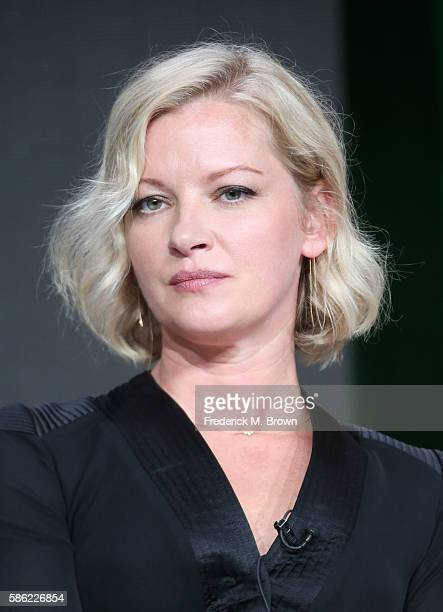 Actress Gretchen Mol speaks onstage at the 'Chance' panel discussion during the Hulu portion of the 2016 Television Critics Association Summer Tour...