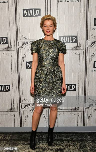Actress Gretchen Mol visits Build Series to discuss science fiction TV series on Syfy 'Nightflyers' at Build Studio on November 28 2018 in New York...