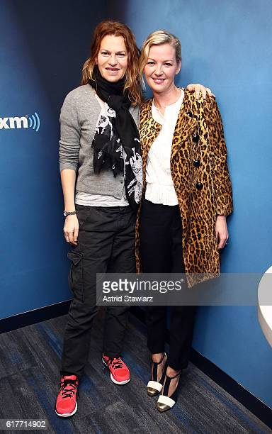 Actress Gretchen Mol visits Sandra Bernhard's 'Sandyland' on Andy Cohen's exclusive SiriusXM channel 'Radio Andy' at the SiriusXM Studios on October...