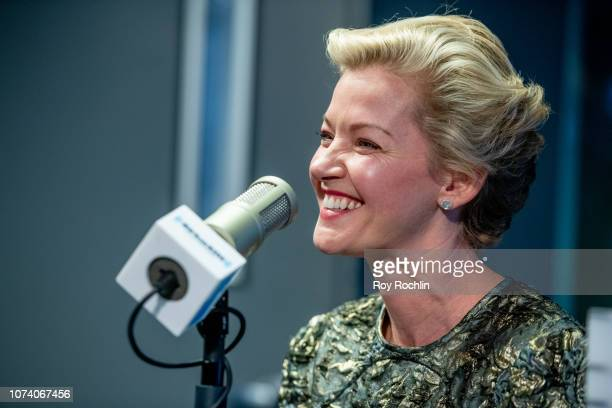 Actress Gretchen Mol visits the 'Sandyland' show on 'Radio Andy' at SiriusXM Studios on November 28 2018 in New York City