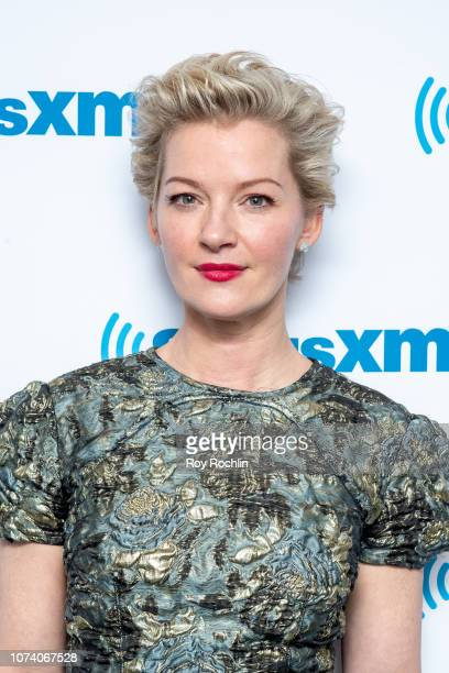 Actress Gretchen Mol visits the Sandyland show on Radio Andy at SiriusXM Studios on November 28 2018 in New York City
