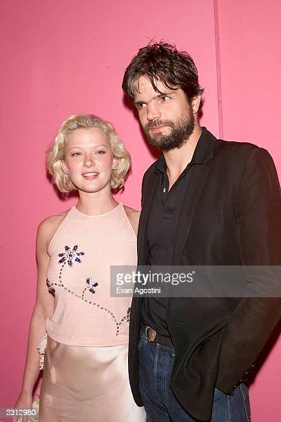 Actress Gretchen Mol with boyfriend Kip Williams arrive at the Emanuel Ungaro 35th anniversary fashion party extravaganza at the Armory in New York...
