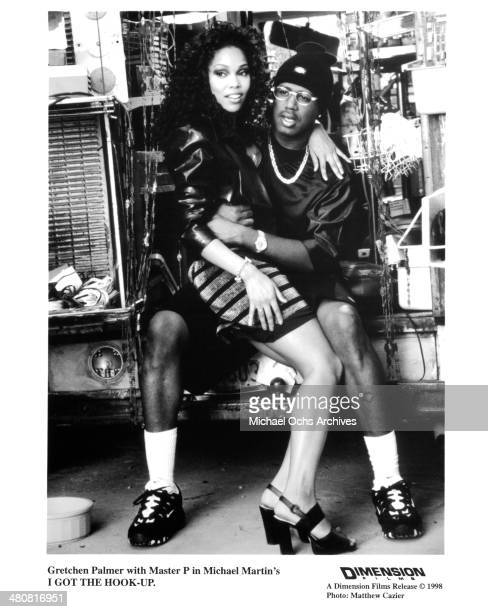 Actress Gretchen Palmer and Master P in a scene from the Dimension movie I Got the Hook Up circa 1998