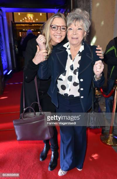 Actress Grit Boettcher and her daughter Nicole BelstlerBoettcher during the NdF after work press cocktail at Parkcafe on March 15 2017 in Munich...