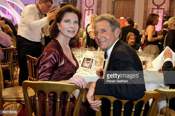 Actress Gudrun Landgrebe and husband Dr Ulrich von Nathusius attend the '20th Romy Award' at the Hofburg on April 25 2009 in Vienna Austria