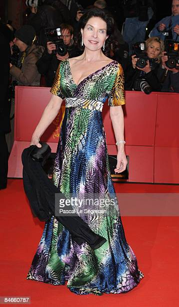 Actress Gudrun Landgrebe attends the premiere for 'The International' as part of the 59th Berlin Film Festival at the Berlinale Palast on February 5...