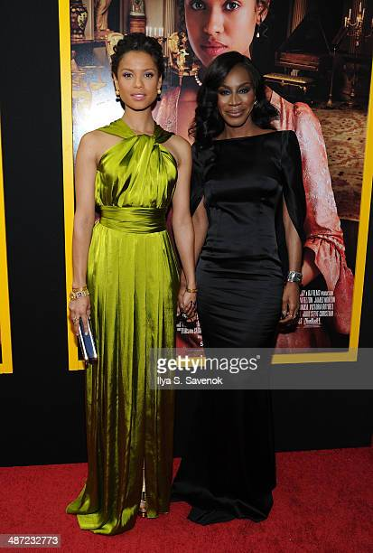Actress Gugu MbathaRaw and Director Amma Asante attend the Belle premiere at The Paris Theatre on April 28 2014 in New York City