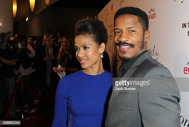 Actress Gugu MbathaRaw and Nate Parker attend the Premiere of Relativity Studios and BET Networks' Beyond The Lights at ArcLight Hollywood on...