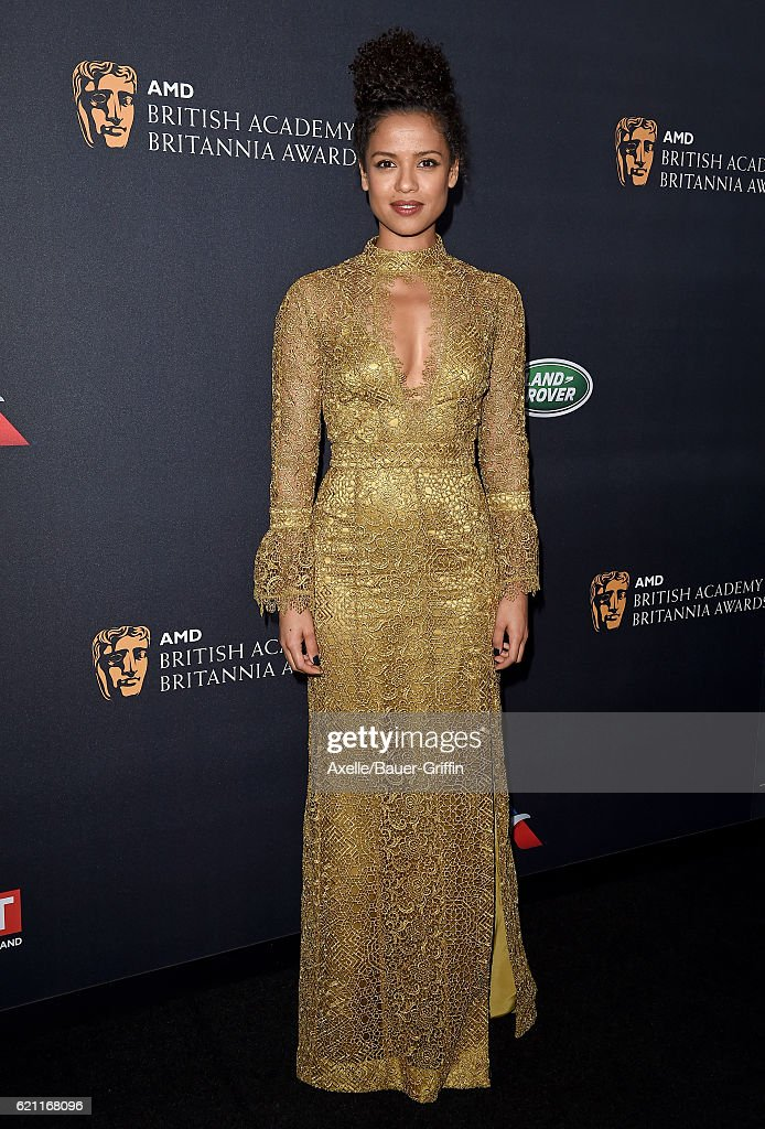 Actress Gugu Mbatha-Raw arrives at the 2016 AMD British Academy Britannia Awards presented by Jaguar Land Rover and American Airlines at The Beverly Hilton Hotel on October 28, 2016 in Beverly Hills, California.