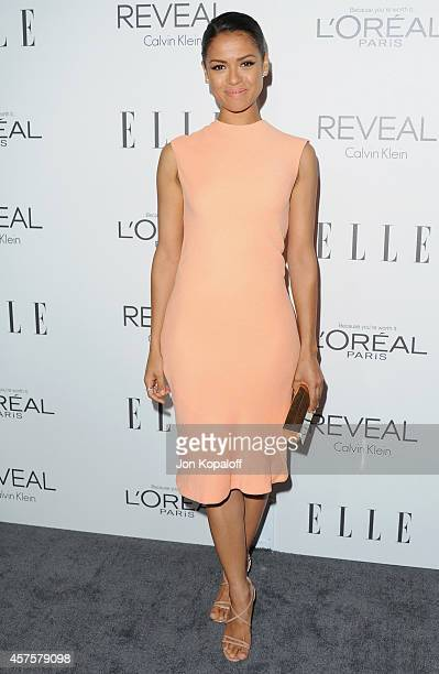 Actress Gugu MbathaRaw arrives at the 21st Annual ELLE Women In Hollywood Awards at Four Seasons Hotel Los Angeles at Beverly Hills on October 20...