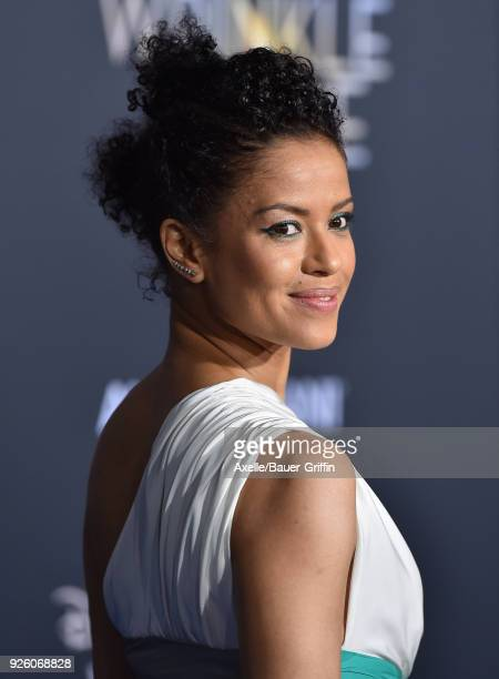 Actress Gugu MbathaRaw arrives at the premiere of Disney's 'A Wrinkle In Time' at El Capitan Theatre on February 26 2018 in Los Angeles California