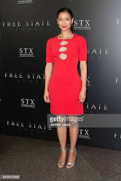 Actress Gugu MbathaRaw arrives at the Premiere of STX Entertainment's Free State Of Jones at the DGA Theater on June 21 2016 in Los Angeles California