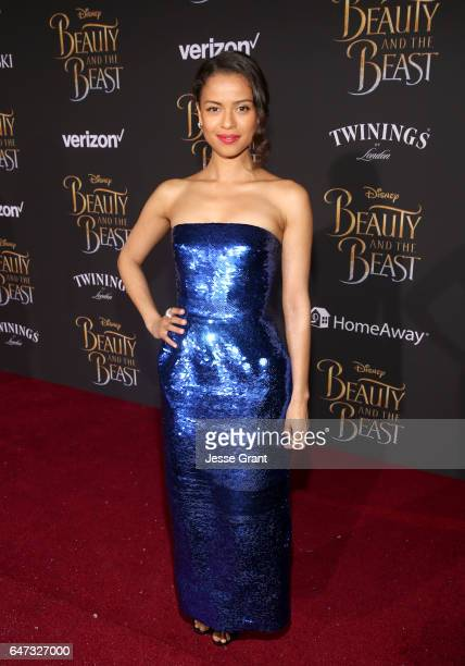 Actress Gugu MbathaRaw arrives for the world premiere of Disney's liveaction 'Beauty and the Beast' at the El Capitan Theatre in Hollywood as the...